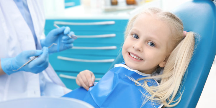 Little kid at the Dental