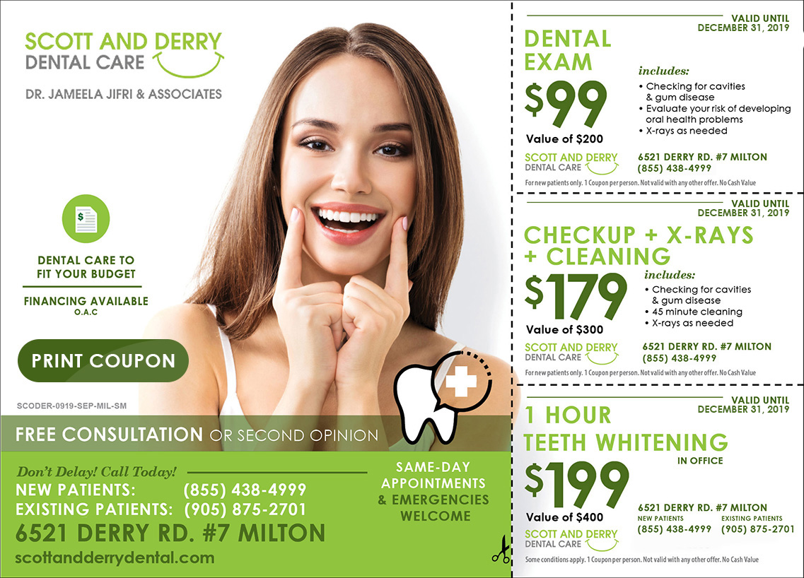 Offers at Scott And Derry Dental